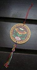 チベットのお守り*八吉祥・傘*五鈷杵付き
