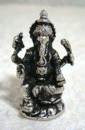 白銅製 ガネーシャ像20 豆仏像