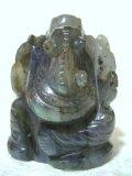 ラブラドライト彫刻・ガネーシャ像 5.2センチ 聖歓喜天