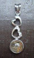 silver925*ルチルクォ-ツペンダントトップ  3.3センチ
