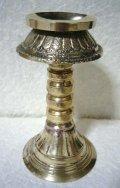 真鍮製 燭台・オイルランプ 13センチ