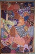 ラジャスタン*ビーズ刺繍布・ウォールハンギング 147.5x100センチ