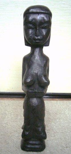画像1: 木製*手彫り*オブジェ3