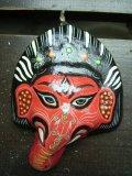 ガネーシャ(赤)・ペーパークラフトマスク ネパール*2