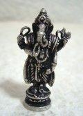 白銅製 ガネーシャ像19 豆仏像